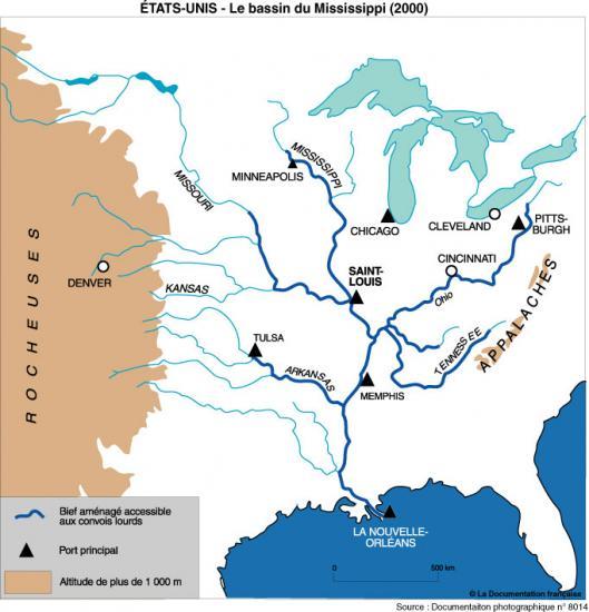 Le bassin du Mississippi