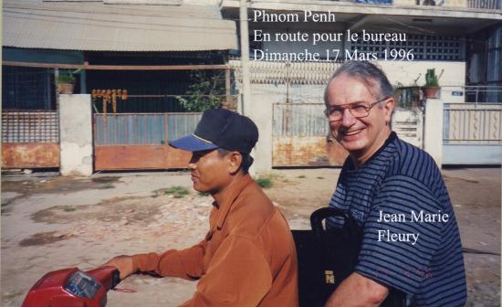 1996 Phnom Penh Fleury mobylette 17 Marsi 1996