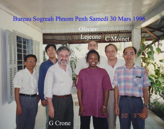 1996 Phnom Penh  Groupe Bureau30 mars