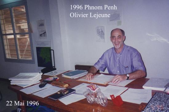 1996 Phnom Penh Oliver Lejeune bureau