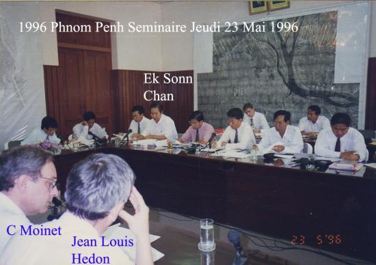 1996 Séminaire 23 mai Ek Sonn Chan CM Hedon
