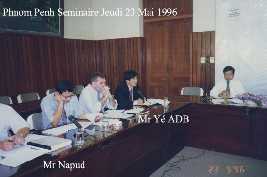 1996 Séminaire Jeudi 23 mai Napud ADB Yé