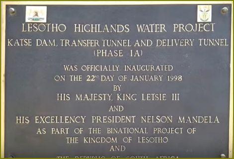 Barrage Katse  INAUGURATION 22 Janv 1998