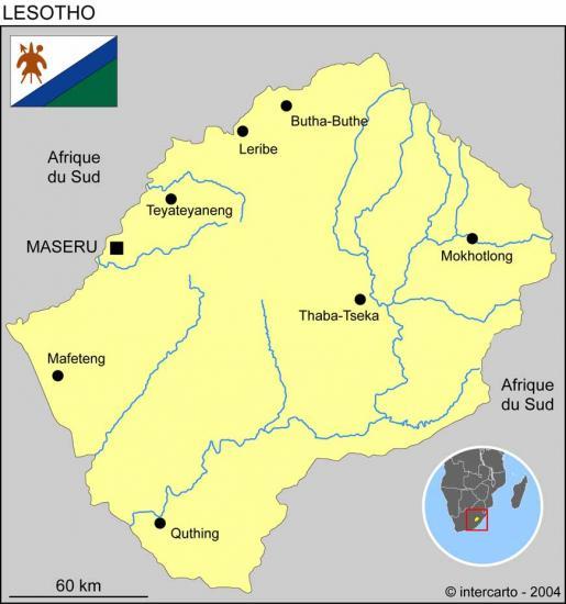 Carte Lesotho 22