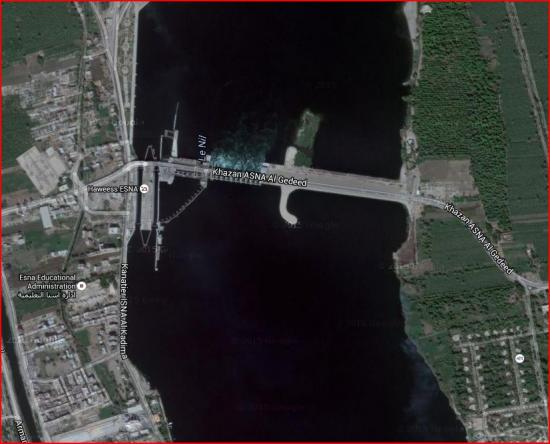 Esna vue satellite barrage