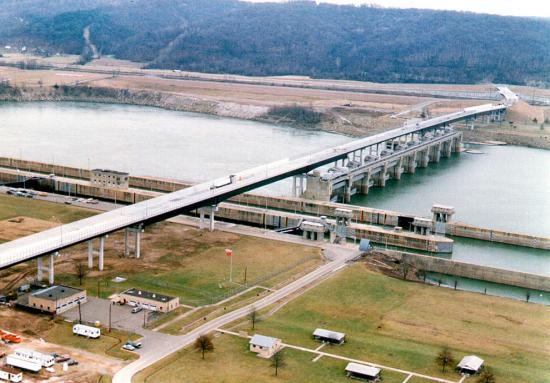 Greenup Hydroelectric Plant Aerial view