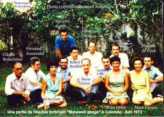 Groupe Colombo Juin 1972 Simon Sogreah 2
