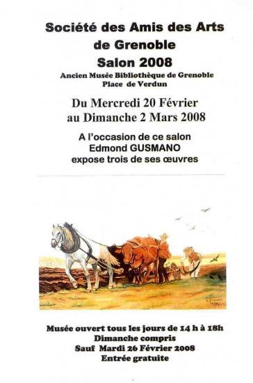 Expo peintures E. et M. GUSMANO Salon mars 2008