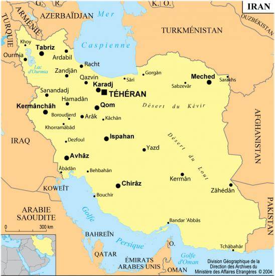 IRAN CARTE MAE FRANCE