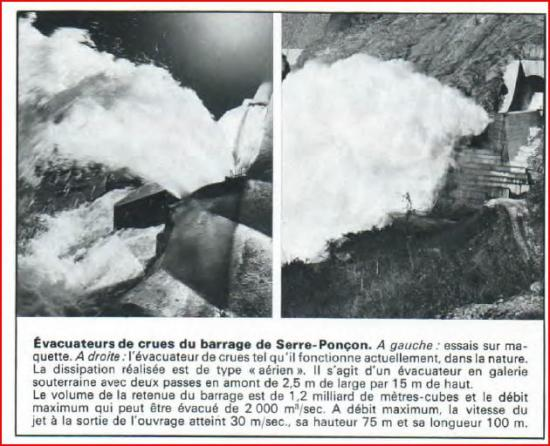 LABO 1969 Evacuateur de crues Barrage Serre Poncon