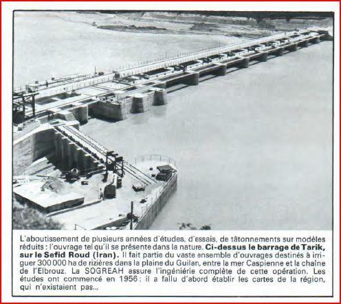 LABO 1969 Barrage de Tarik Iran