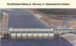 Sidney A Murray JR Hydroelectric station Vidalia Louisiane