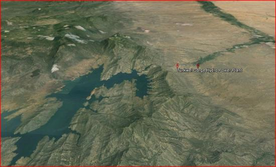 Turkwel Lake Landsat view