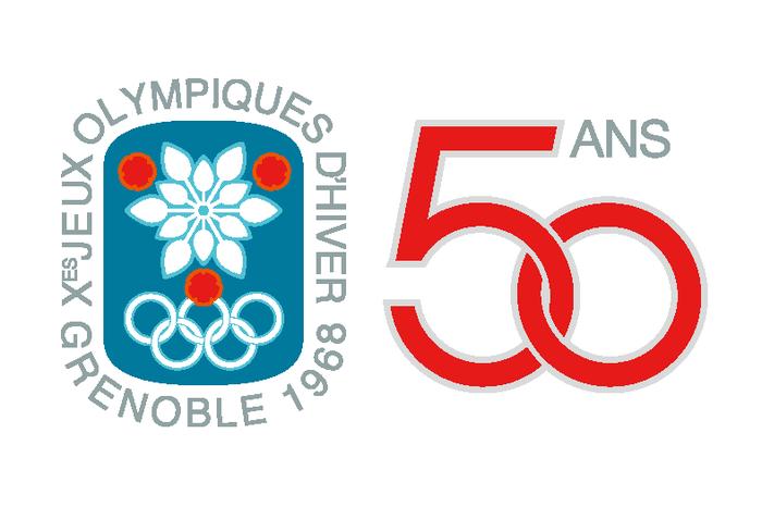 1 0 logo 50 ans jeux olympique 1968