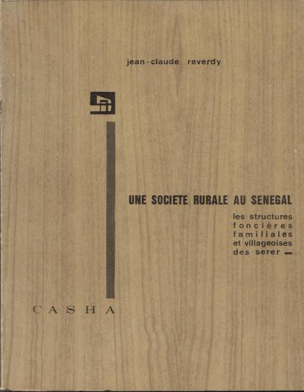 1963 societe rurale senegal reverdy jc 1 couverture