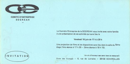 1977 invitation ce 16 juin