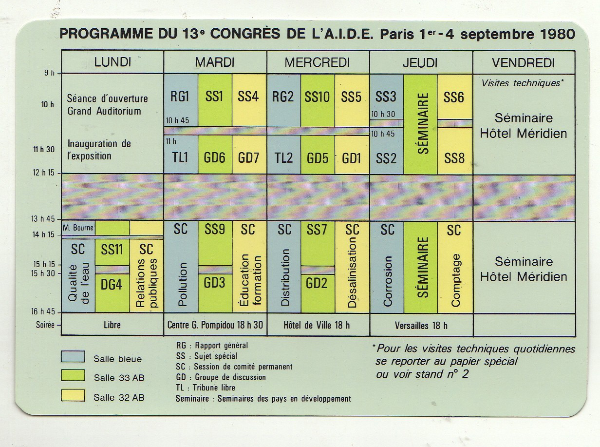 1980 programme aide 13 congres paris 1 4 sept