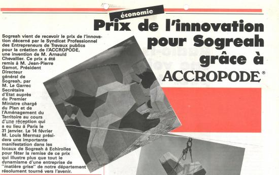 1983 arnauld chevallier accropode extrait titre