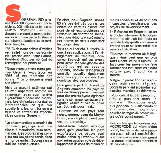 1984 sogreah a l honneur janvier texte