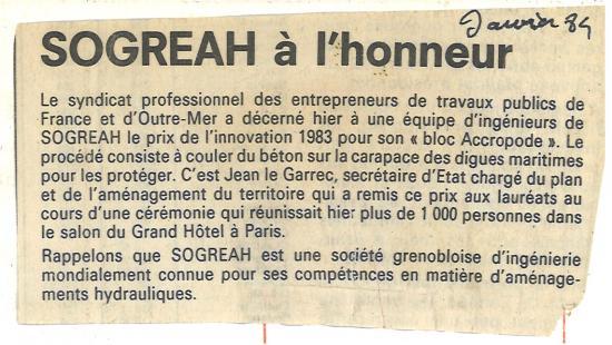 1984 sogreah a l honneur janvier