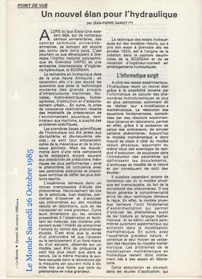 1985 article le monde gamot 26 oct 1985