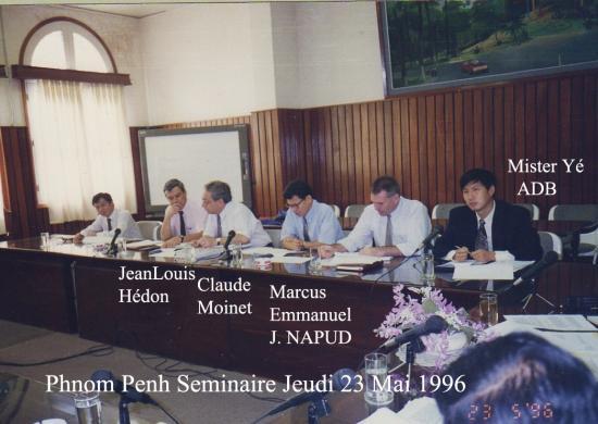 1996 seminaire 23 mai hedon cm napud