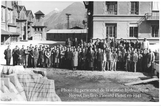 2 station hydraulique neyret beylier et son personnel en 1941 texte