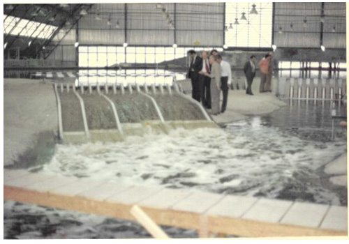3 1976 maquette d evacuateurs de crues du barrage d itaipu curitiba bresil b
