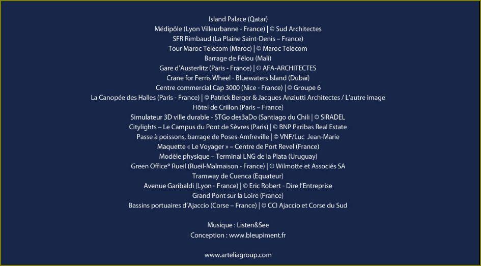 Artelia liste des projets 2016