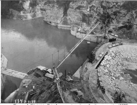 Barrage de genissiat batardeau 1939