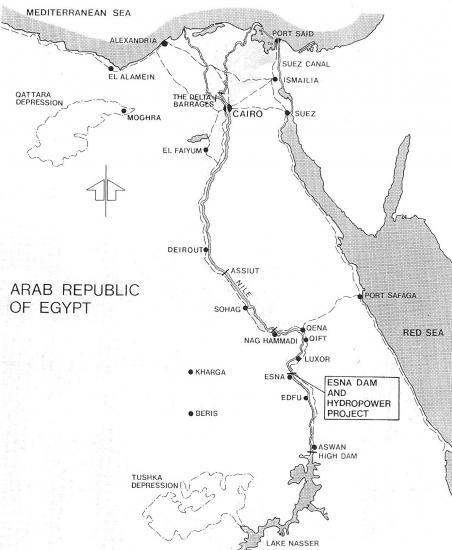 Carte egypte esna