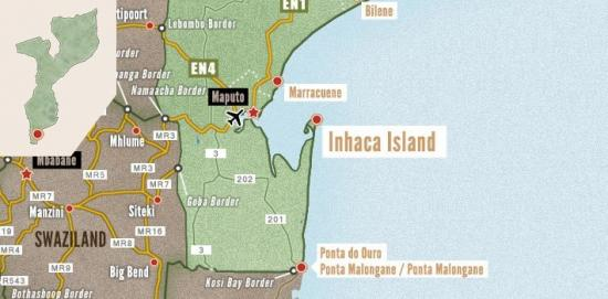 Carte inhaca island