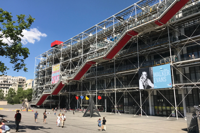 Centre pompidou transforme en club