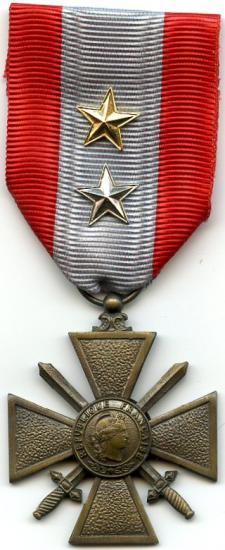 Croix de guerre toe france 2 citations