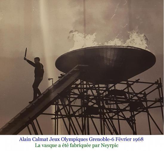 Jeux olympiques grenoble 6 fevrier 1968 vasque calmat