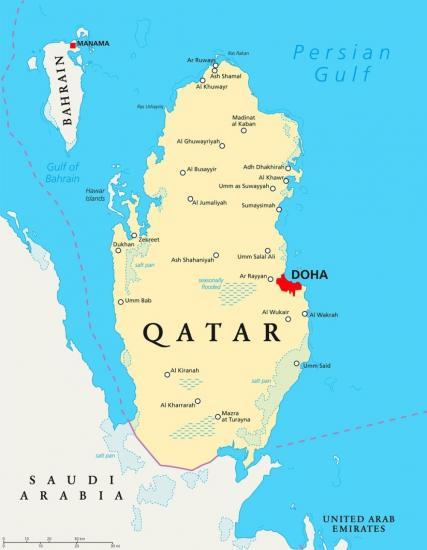 Katar doha mapa