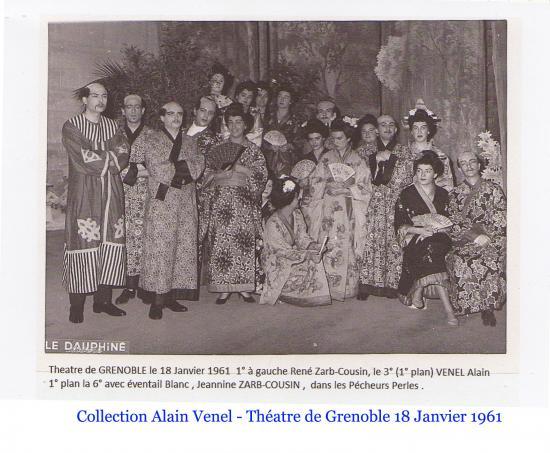 Les pecheurs de perles theatre 18 janv 1961 venel