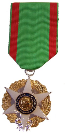 Medaille merite agricole chevalier
