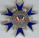 Merite national chevalier france revers