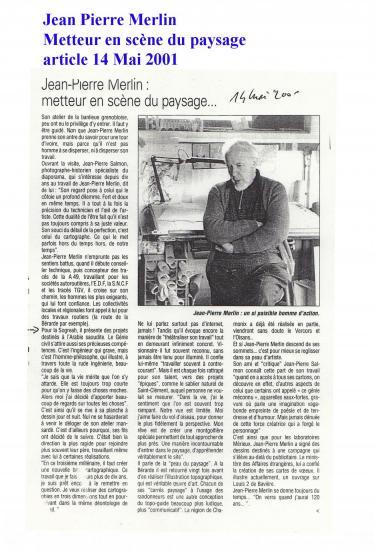 Merlin jean pierre presse 14 mai 2001 blog