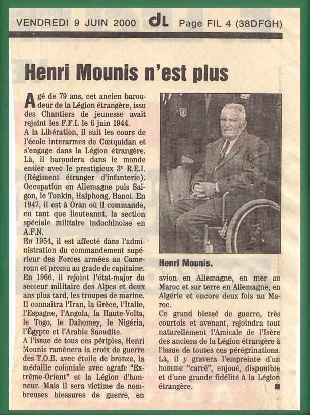 Mounis henri dl 9 juin 2000