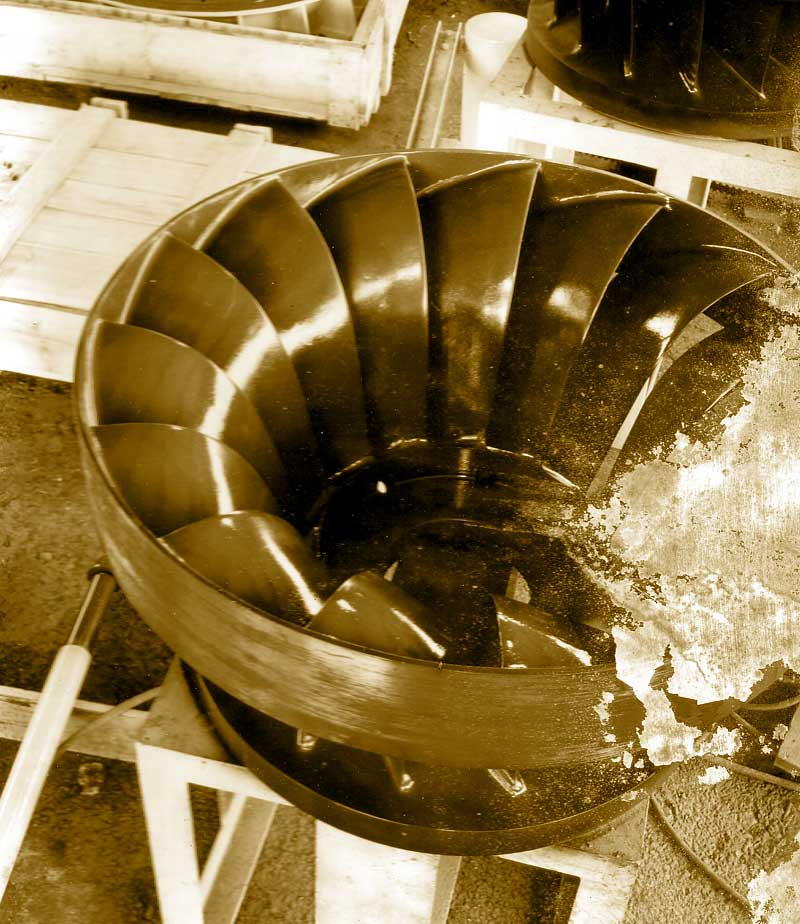 Neyrpic 17 roue turbine francisles turbines un