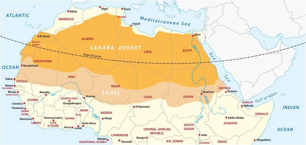 Sahel carte lesniewski fotolia