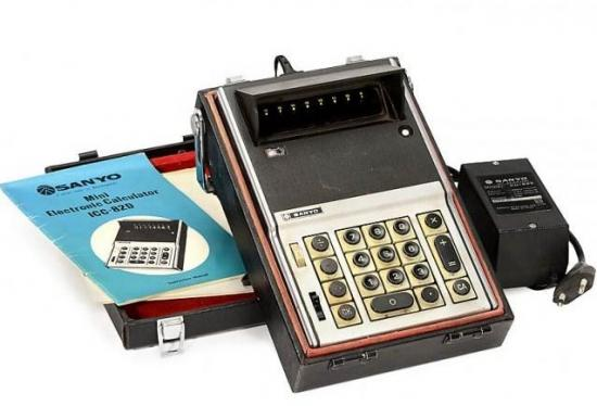 Sanyo icc 82d mini electronic calculator 1970