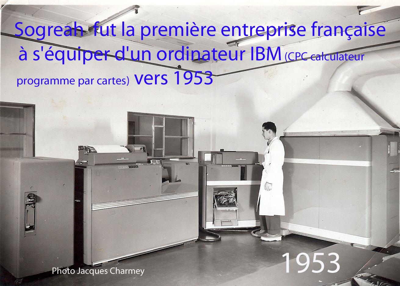 Sogreah salle informatique 1953