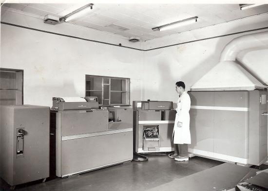 Sogreah salle informatique 1965