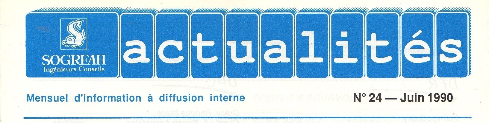 Titre sogreah actualites n 24 juin 1990